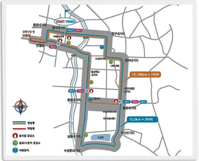 세계육상선수권대회 마라톤 코스를 달린다!