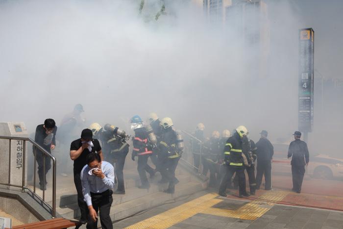 10.5.14 재난대응 안전한국훈련 용산역(1)