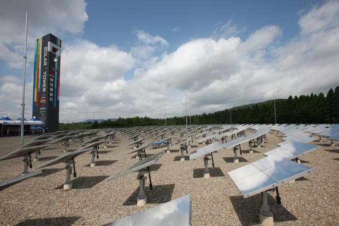 타워형 태양열 발전시스템 준공식