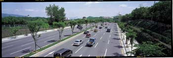 망우공원 도로