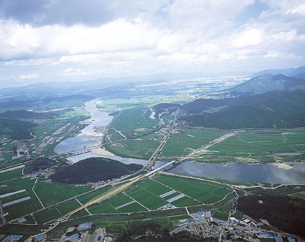 낙동강 항공사진