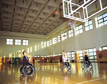 장애인 훨체어 농구단