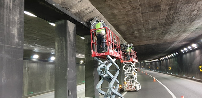 대구시설공단, 조명등 교체공사로 두리봉터널 부분 통제