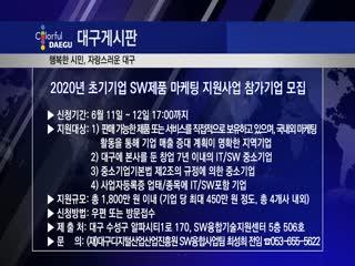 2020년 초기기업 SW제품 마케팅 지원사업 참가기업 모집