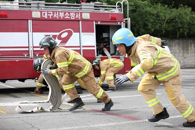 대구소방, 화재진압분야 최강팀은? 자체 경연대회 개최