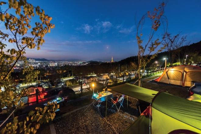 달서별빛캠프장, 팔공산 케이블카(2020대구화보 p77)