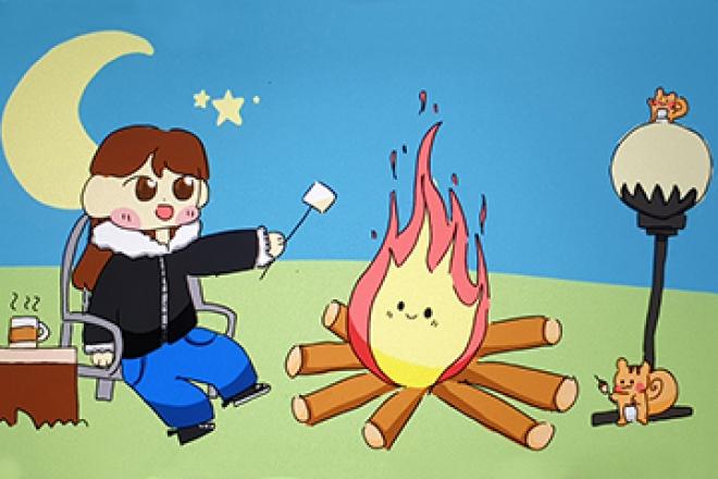 [만화] 다람쥐와 함께 모닥불 놀이