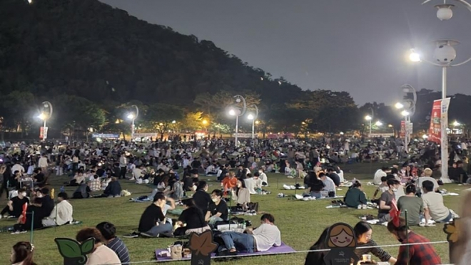 코오롱야외음악당 잔디광장 개방시간 변경