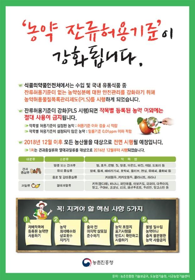 대구시농업기술센터,'농약안전사용기준 준수'중점 홍보