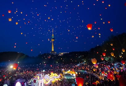 소원 풍등 날리기, 글로벌 관광 상품으로 도약