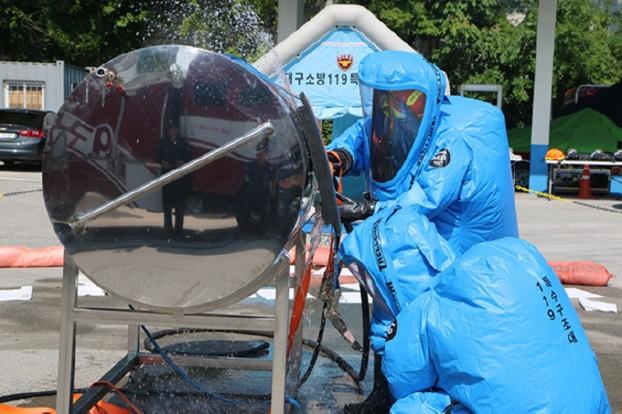 대구소방, 유해화학물질 누출사고 대비 선제적 대응훈련 실시