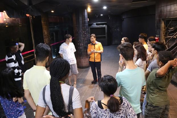 유럽, 아프리카, 아시아 학생 대구시민안전테마파크 방문