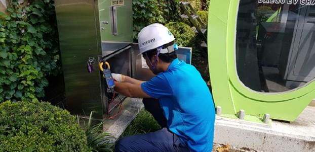 추석연휴 전기차 충전기 이용객을 위한 전기차 충전소 일제 점검