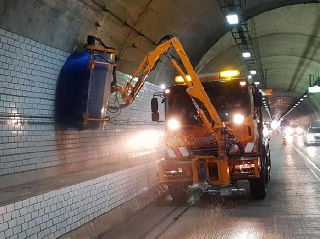 테크노폴리스로 전 구간 터널 세척작업 실시