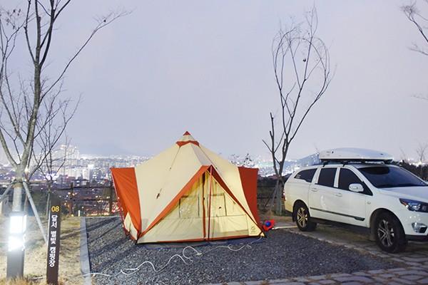 특별한 겨울 여행! 낭만이 가득한 동계 캠핑 떠나요~! - 달서별빛캠프 캠핑장