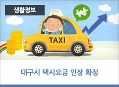 대구시 택시요금 인상 확정  5년 10개월만, 지역경제협의회 심의를 거쳐 최종 확정