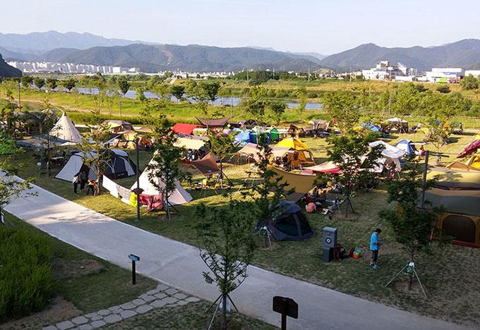 금호강 공항교 강변공원 야영장(2016년)