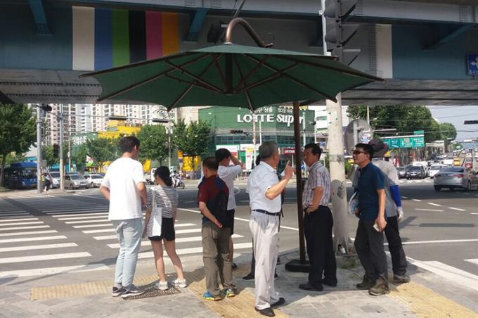 주요 교차로 그늘막 텐트