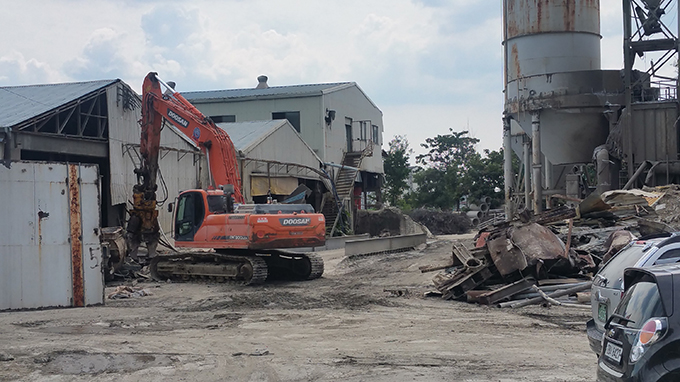 태영콘크리트 철거공사 진행 사진