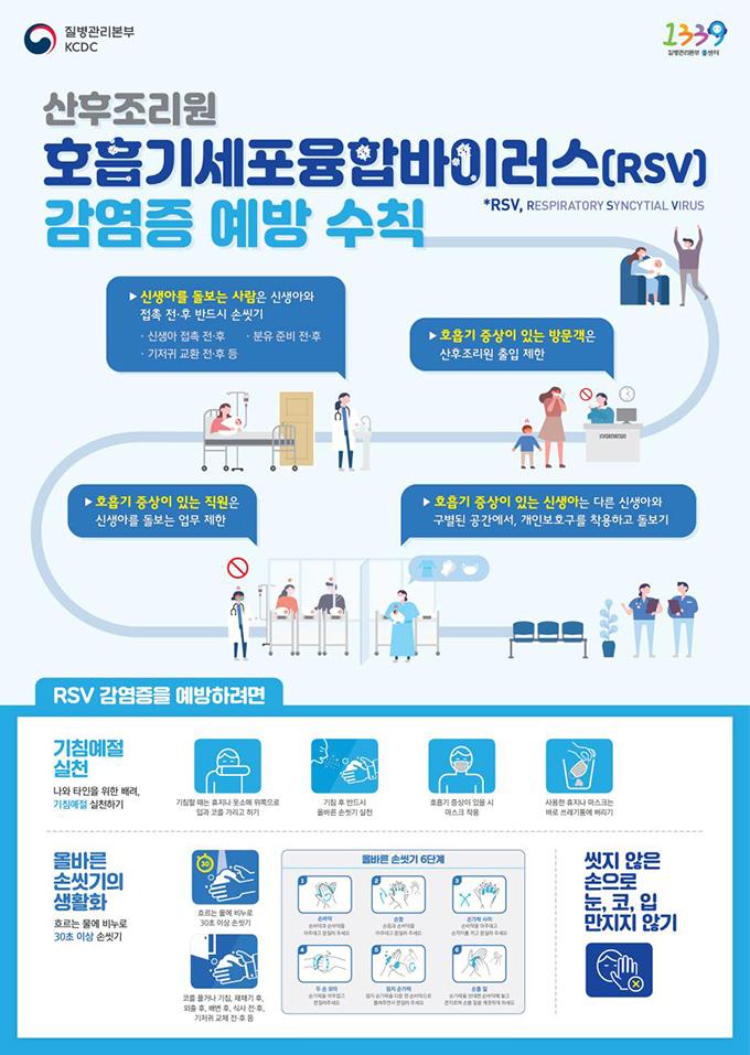산후조리원용 호흡기세포융합바이러스 감염증 예방수칙 포스터