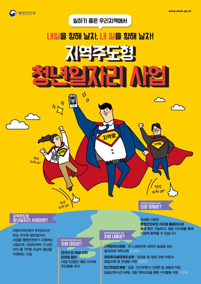 지역주도형 청년일자리 사업 포스터