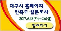 대구시 홈페이지 만족도 설문조사 2017.6.13(화)~26(월)