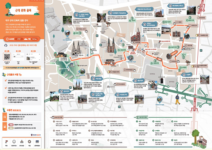 대구 걷기여행 지도 - 근대 문화 골목