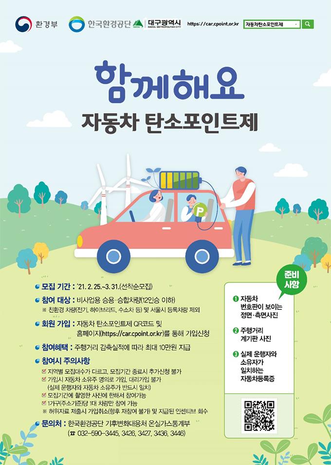 자동차 탄소포인트제 포스터